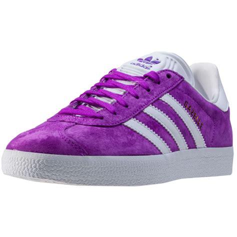 adidas gazelle womens trainers purple white  shoes ebay