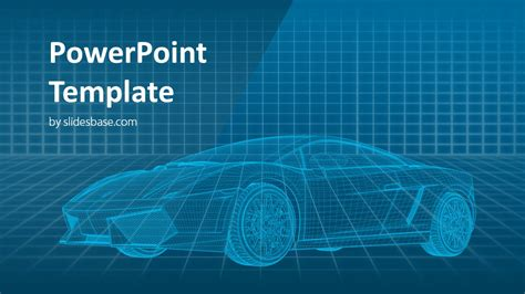 Virtual Car Powerpoint Template Slidesbase Powerpoint Templates