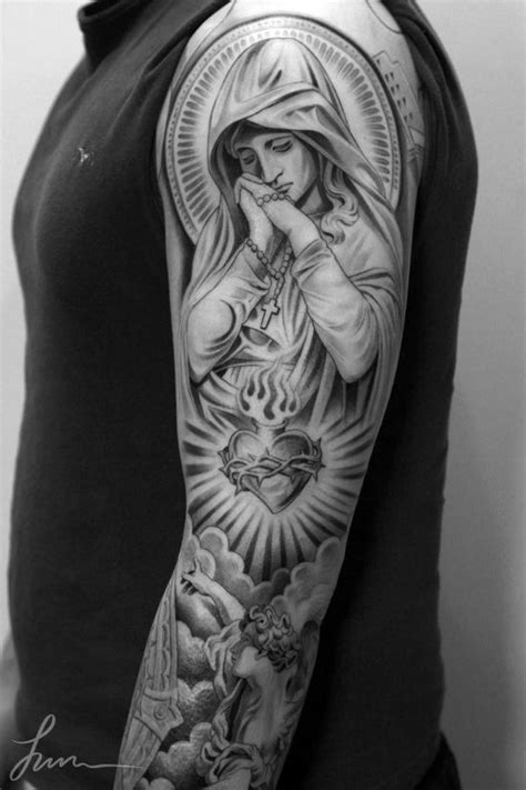 religious angel tattoo designs 35 christian tattoos on sleeve