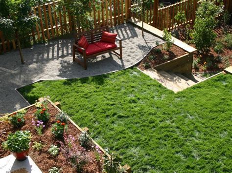 small sloped backyard 12 budget friendly backyards diy landscaping landscape