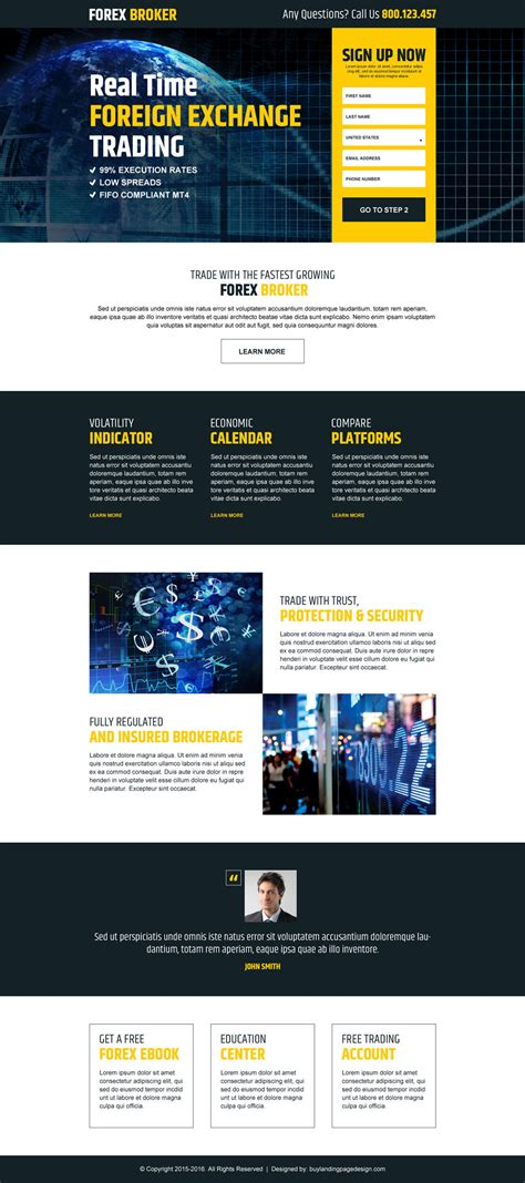 forex landing page template real time foreign exchange trading reslp 8 forex trading