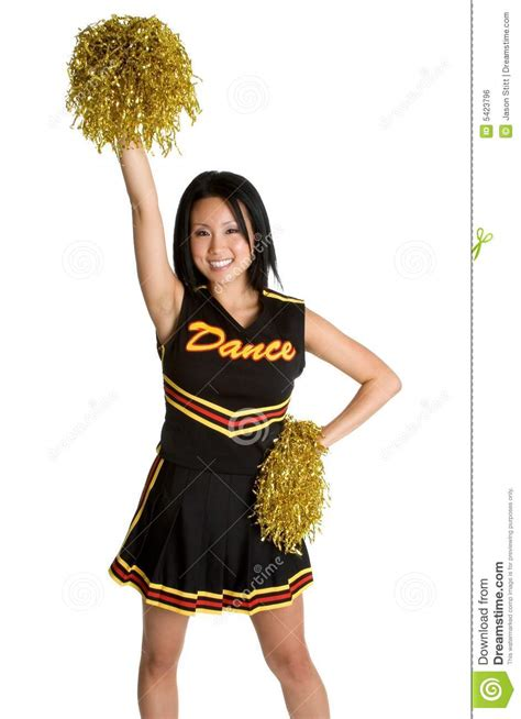 asian cheerleader royalty free stock image image 5423796