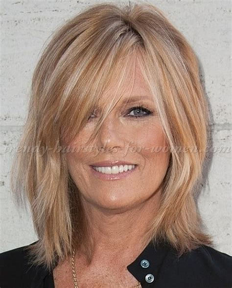 razor cut hairstyles for older women with wavy hair medium hairstyles over 50 medium length hairstyle