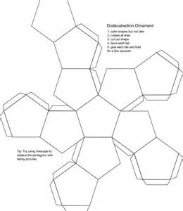 dodecahedron template clipart blank dodecahedron ornament