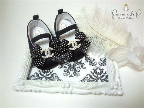 chanel baby shoes chanel inspired baby shoes black satin from