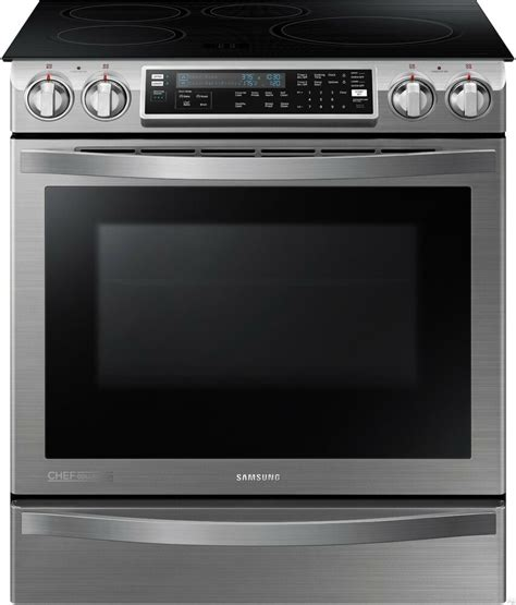 Samsung Induction Range by Samsung Slide In Induction Chef Collection Range Flex Duo