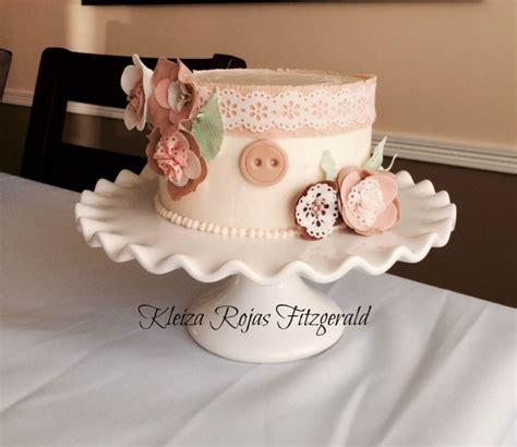 shabby chic bridal shower cake shabby chic vintage bridal shower cake cakecentral