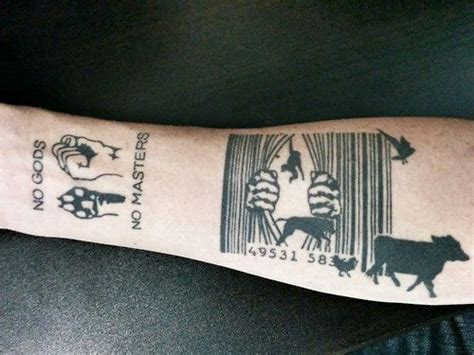 barcode animal tattoo 9 best animal rights tattoos images on pinterest vegan