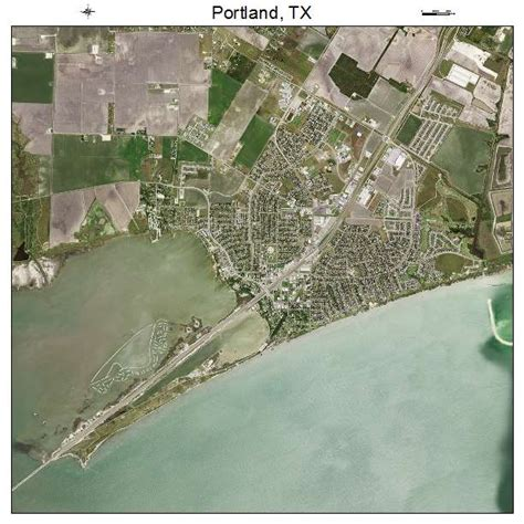 portland texas map aerial photography map of portland tx texas