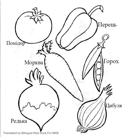 printable vegetable template multilingual printables fruits and vegetables in 7 languages