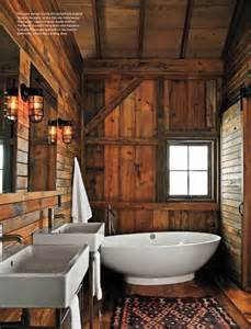 cabin bathroom bathrooms pinterest
