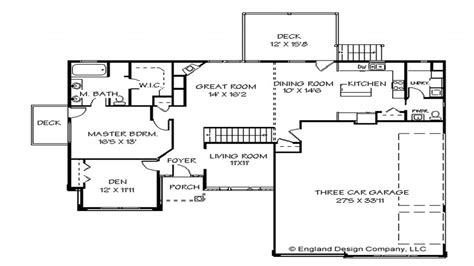 one story house plans with open concept one story house