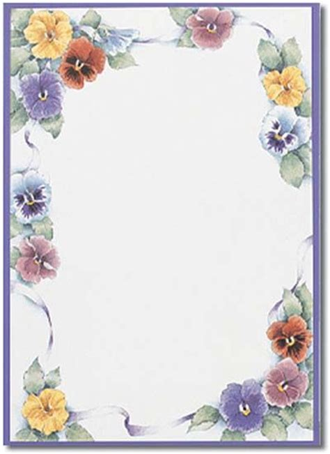 design art on paper flower border stationery paper designs perfect papers