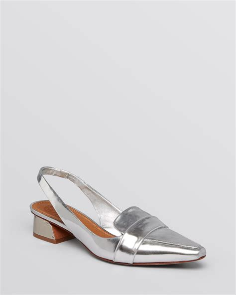 pointed toe loafer flats burch pointed toe slingback loafer flats in