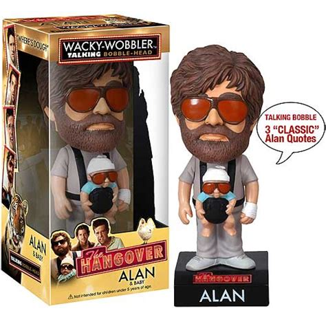 bobblehead baby the hangover alan with baby talking bobble funko