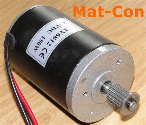 24v Electric Motor by E Motor Unite My6812gr 150w 24v Dc 0 56nm Belt Pulley