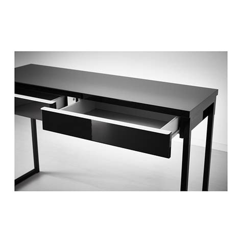 High Gloss Black Desk by Best 197 Burs Desk High Gloss Black 120x40 Cm