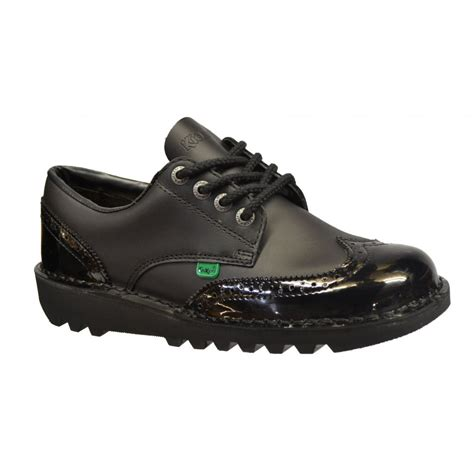 kickers shoes kickers kickers kick lo brogue leather black n79 1 10689