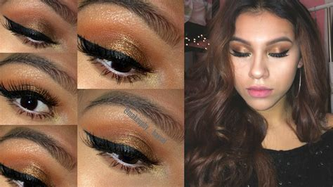 orange makeup tutorial warm burnt orange eyeshadow tutorial brown eyes makeup