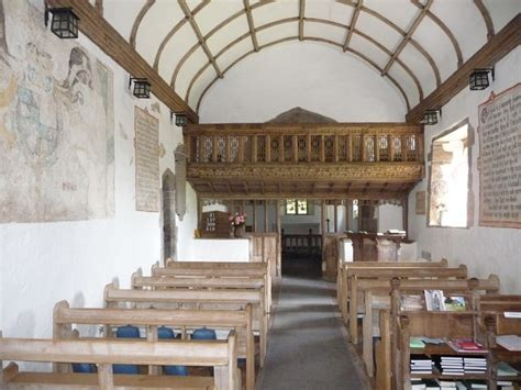 Parts Of Church Interior by Part Of The Interior Of Partrishow 169 Bolwell