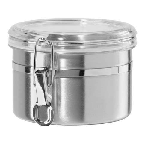 5 piece acrylic canister set locking cls cookies flour oggi 26 ounce stainless steel airtight canister with clear