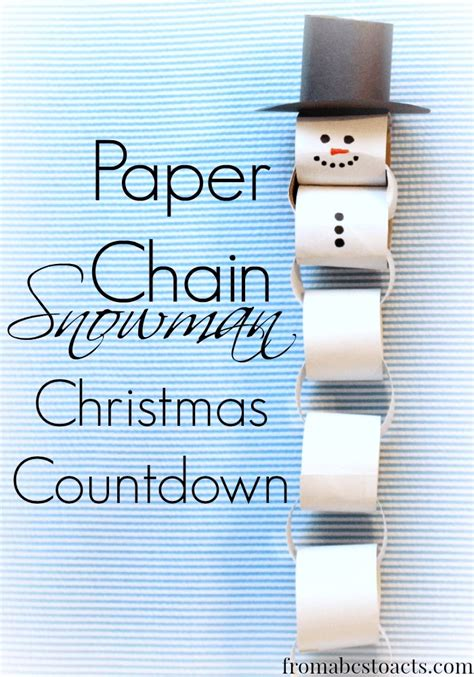 How To Make A Snowman Paper Chain - 17 best ideas about paper chains on sukkot