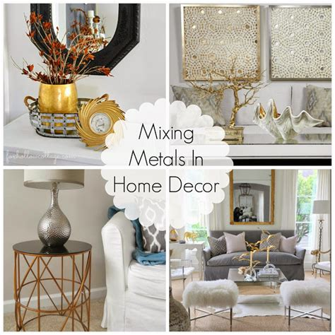 gold and silver home decor decorating cents mixing metals in home decor