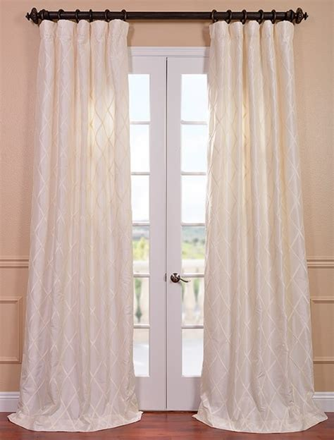 White Silk Curtains Alexandria White Taffeta Faux Silk Curtain Traditional Curtains San Francisco By