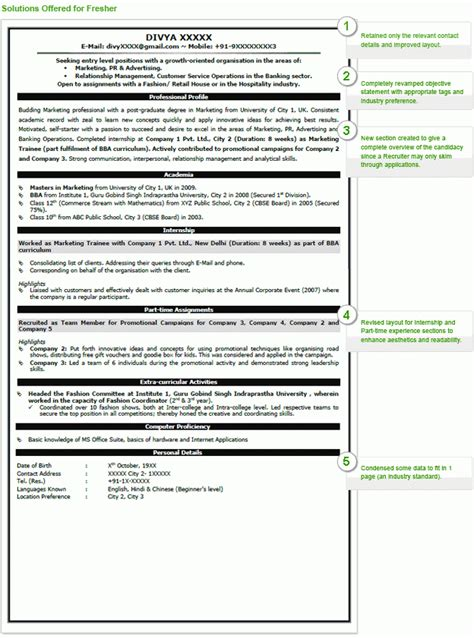 standard resume format for engineers resume format for engineering completed freshers 2017