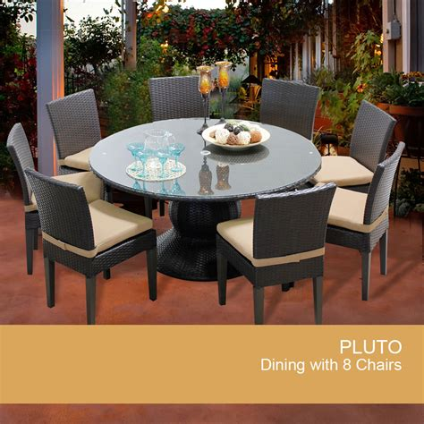 60 inch patio table pluto 60 inch outdoor patio dining table with 8 chairs