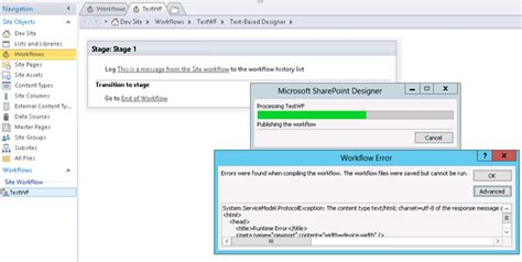 workflow services sharepoint 2013 sharepoint designer 2013 workflow http 500 the remote