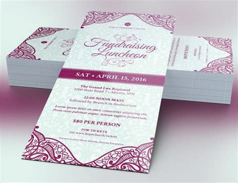 25 Sle Dinner Ticket Templates Free Word Psd Designs Dinner Ticket Template Free