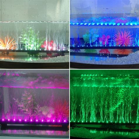 Rgb Colour Changing Led Aquarium Fish Tank Airstone