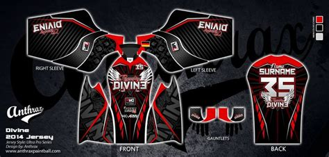 Anthrax Custom Paintball Jerseys Pairs And Spares Paintball Jersey Template