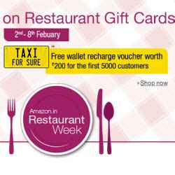 Rechargeable Gift Card - restaurant gift cards upto 30 off rs 200 taxi for sure wallet recharge voucher