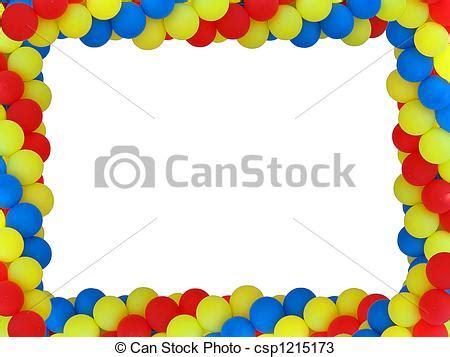 cornici compleanno disegni di baloon plase colorato cornice isolato