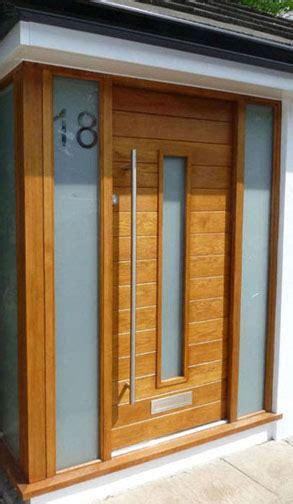 Modern Front Doors Uk Contemporary Front Doors Oak Iroko And Other Woods Bespoke Doors