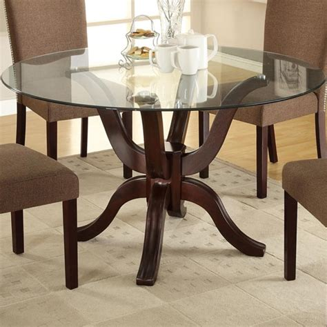 round glass top dining room table modern round glass table dining room table sets