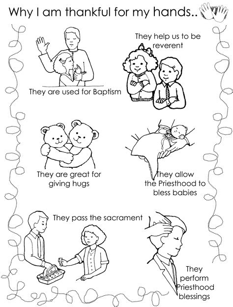lesson 17 i am thankful for my hands lds lesson ideas