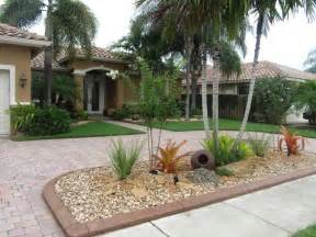 tropical landscape in large front garden olpos design