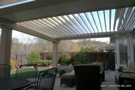 Automatic Patio Cover by Adjustable Louver Motorized Patio Covers Traditional