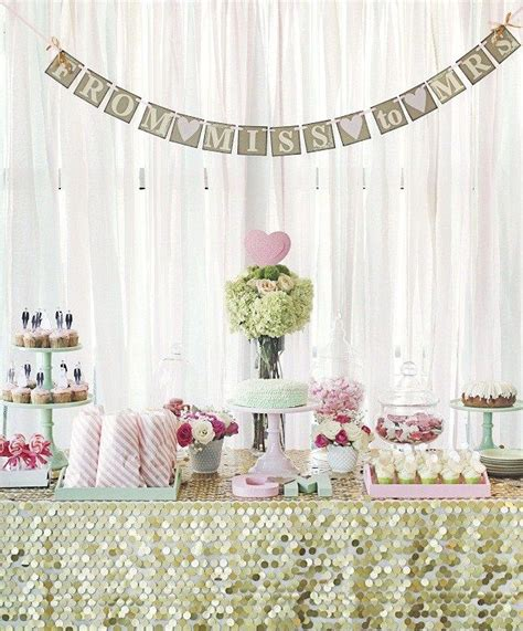 bridal shower with a touch guest feature tables