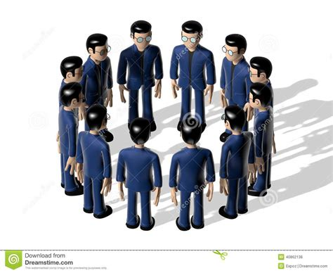 assembly 3d cartoon character stock illustration image