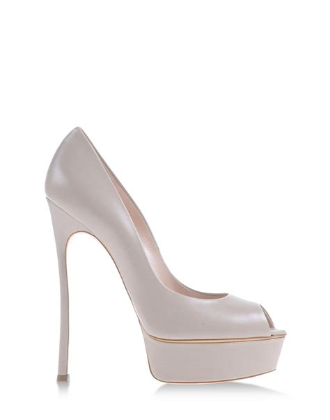 Light Grey Heels by Casadei Platform Pumps In Gray Light Grey Lyst