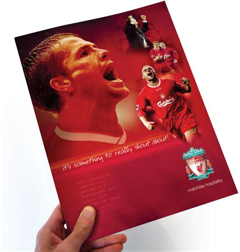 leaflet design liverpool advertising liverpool football club brochures peter