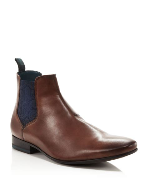 ted baker hourb chelsea boots in brown for lyst