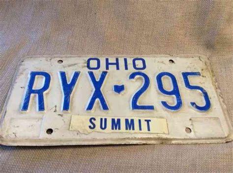 Ohio License Plate Stickers