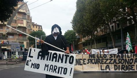 inail sede di bologna amianto i lavoratori delle ogr di bologna marciano con la