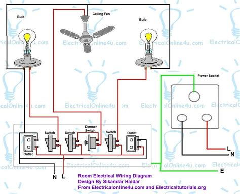 bedroom wiring diagram how to wire a room in house electrical online 4u