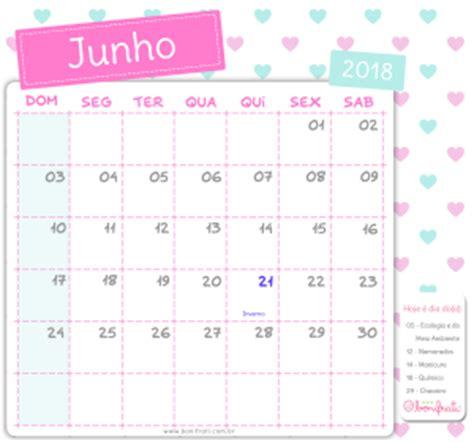 Calendario Junho De 2018 Calend 225 Bonifrati 2018